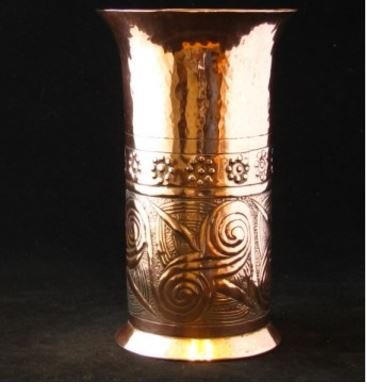 Keswick Arts And Crafts Copper Vase Solo Antiques