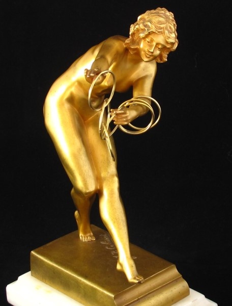 French Art Deco bronze statue