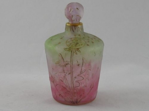 Daum scent bottle with dandelion seeds and leaves