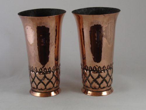 Antique copper vases