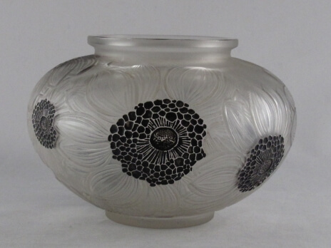 Rene Lalique art deco glass vase
