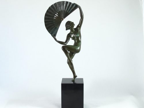 French art deco bronze figurine