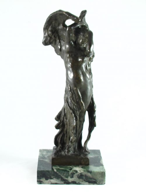 Italian bronze art deco figure