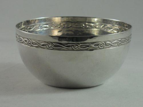 Birmingham Guild of Handicrafts Arts and Crafts silver bowl