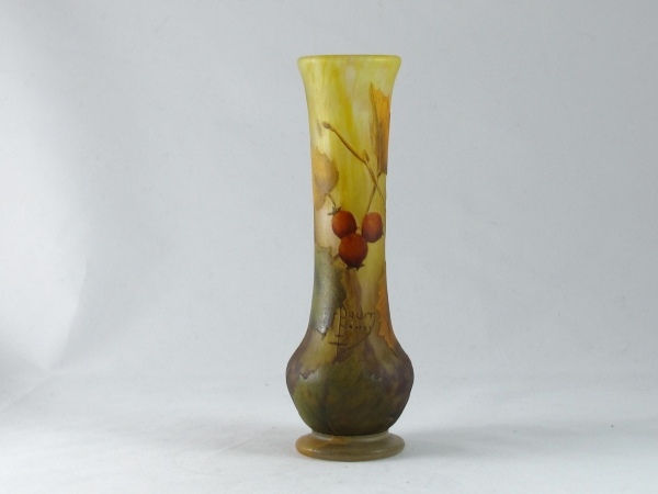 Daum Art nouveau glass vase
