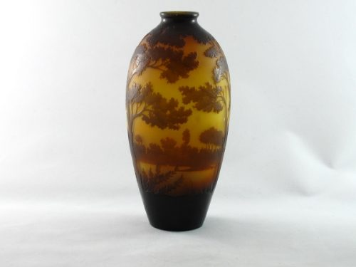 Art deco glass vase paul nicholas D'Argental