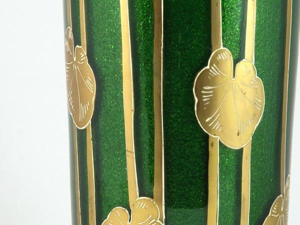 Art Nouveau aventurine glass vase by Harrach - Solo Antiques