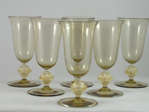 Barovier and Toso drinking glasses c 1930