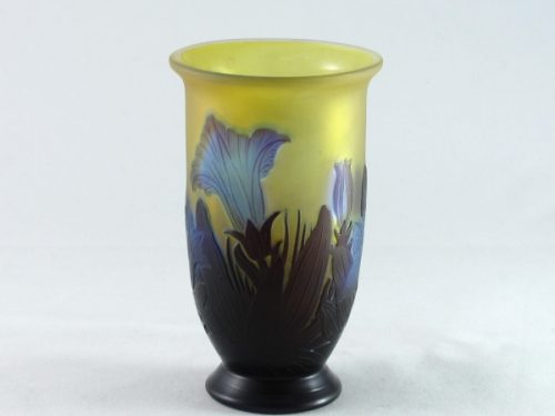 Emile Galle vase decorated with flowers and leaves