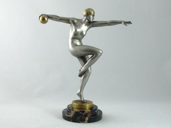 Art Deco bronze by Guiraud Riviere