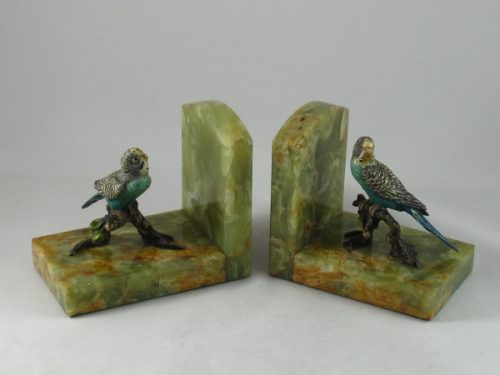 Art Deco bronze bookends