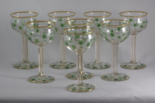 A set of 8 wine glasses
