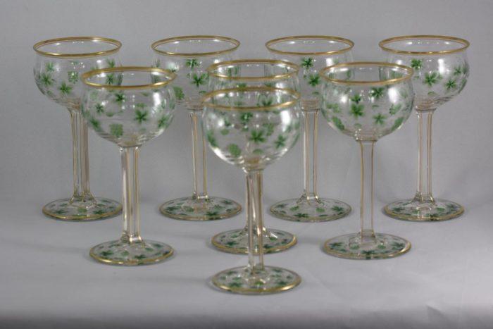 A set of 8 wine glasses