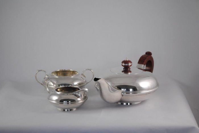Art Deco silver tea set