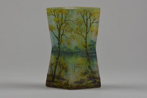 Daum Paysage Printemps vase