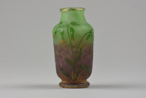 Daum vase decorated with Cowslip flowers and leaves