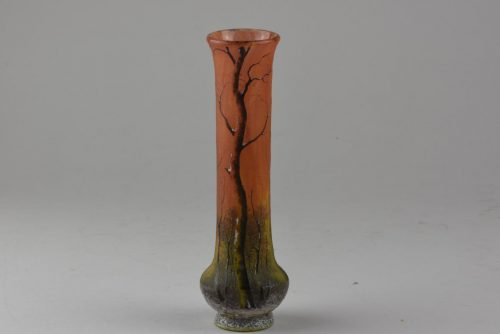 Daum Winter LAndscape vase